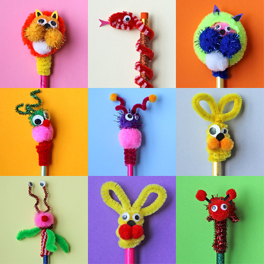 Make your own pencil toppers easy tutorial paperchase for Ideen strickliesel