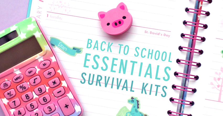 PAPERCHASE BACK TO SCHOOL ESSENTIALS SURVIVAL KITS