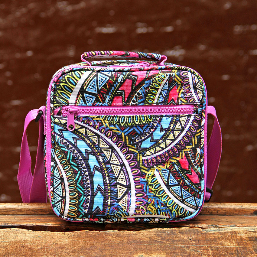 PAPERCHASE BACK TO SCHOOL LUNCH BAGS WILD AZTEC2
