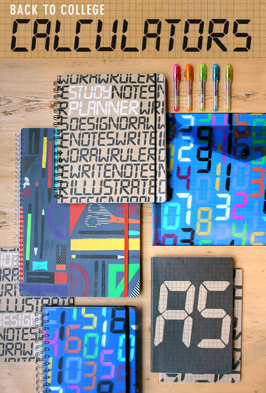 PAPERCHASE CALCULATOR STATIONERY BACK TO COLLEGE