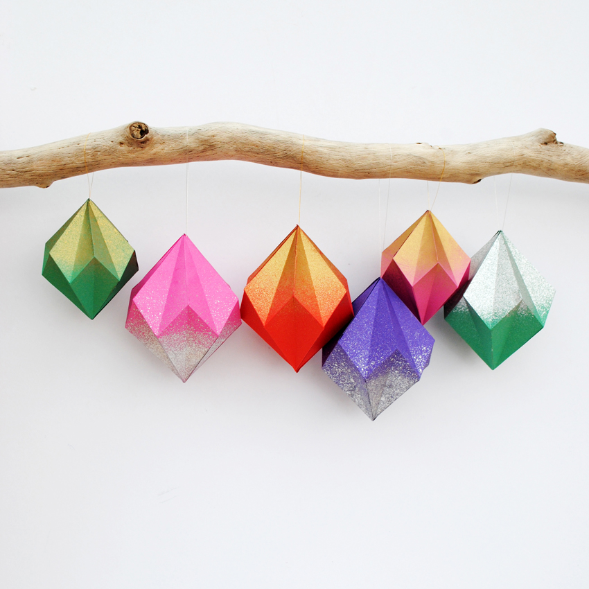 we asked our mate kate lilley from minieco if she could show us how to make some christmas decorations something beautiful geometric and contemporary