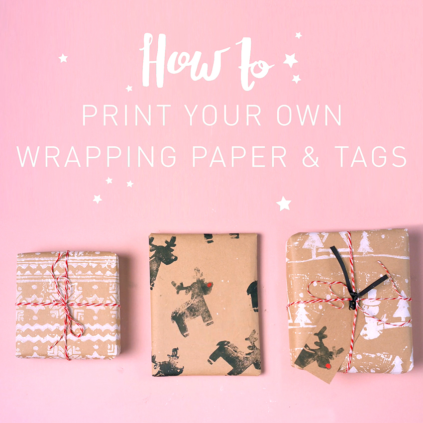 how to print your own christmas wrapping paper tags