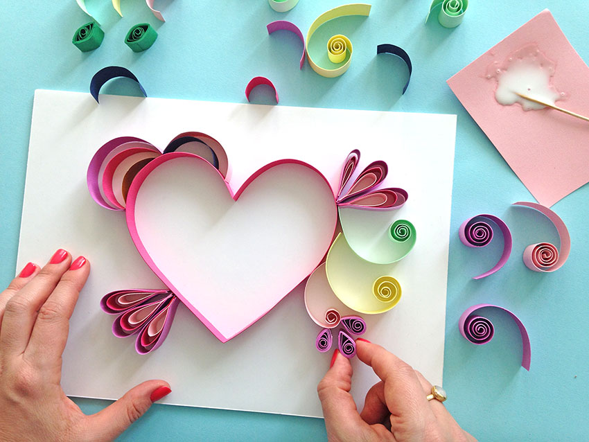 Quill paper how to make a beautiful heart