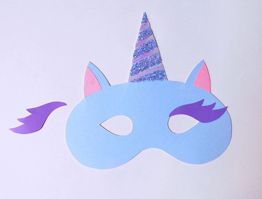 picture about Printable Unicorn Mask called HOW In direction of Create A MAGICAL UNICORN MASK Paperchase Magazine