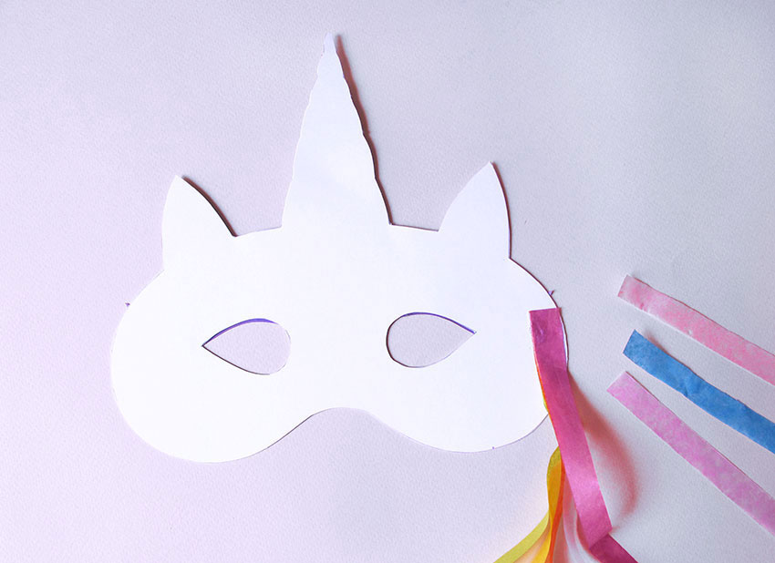 photo about Printable Unicorn Mask named Cost-free Printable Unicorn Mask Template - Floss Papers
