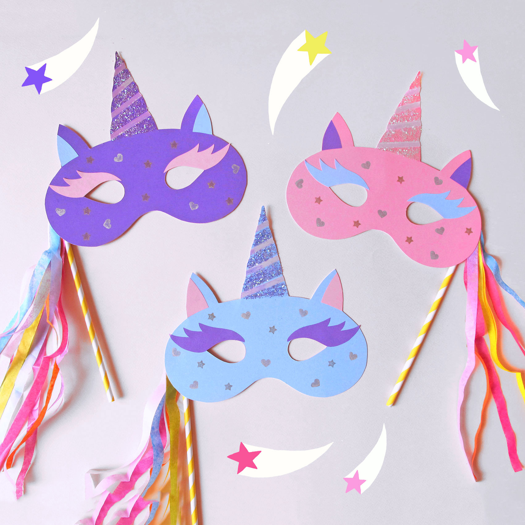 picture relating to Printable Unicorn Mask named HOW In direction of Generate A MAGICAL UNICORN MASK Paperchase Magazine