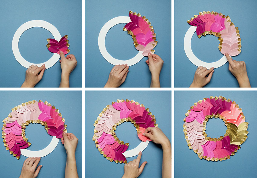 Paperchase-how-to-make-a-christmas-wreath-step-six