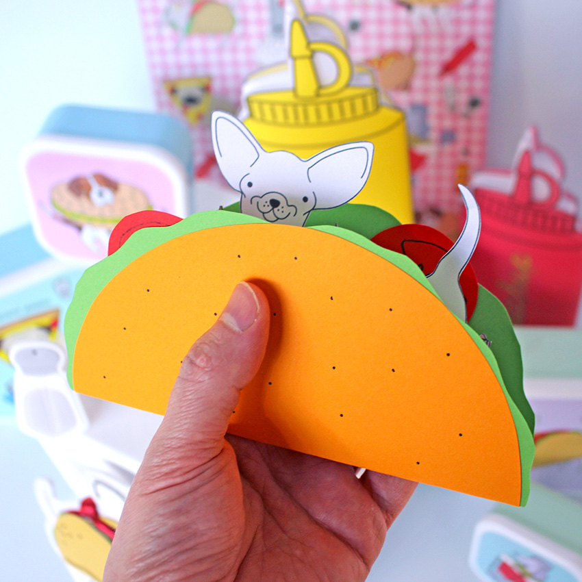 PAPERCHASE-HOW-TO-MAKE-A-POP-UP-CARD-CHIHUAHUA-taco-shell