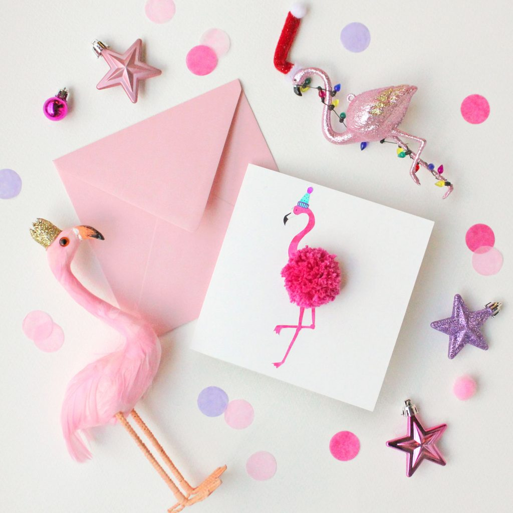 MAKE YOUR OWN FLAMINGO POM POM CHRISTMAS CARD – Paperchase Journal