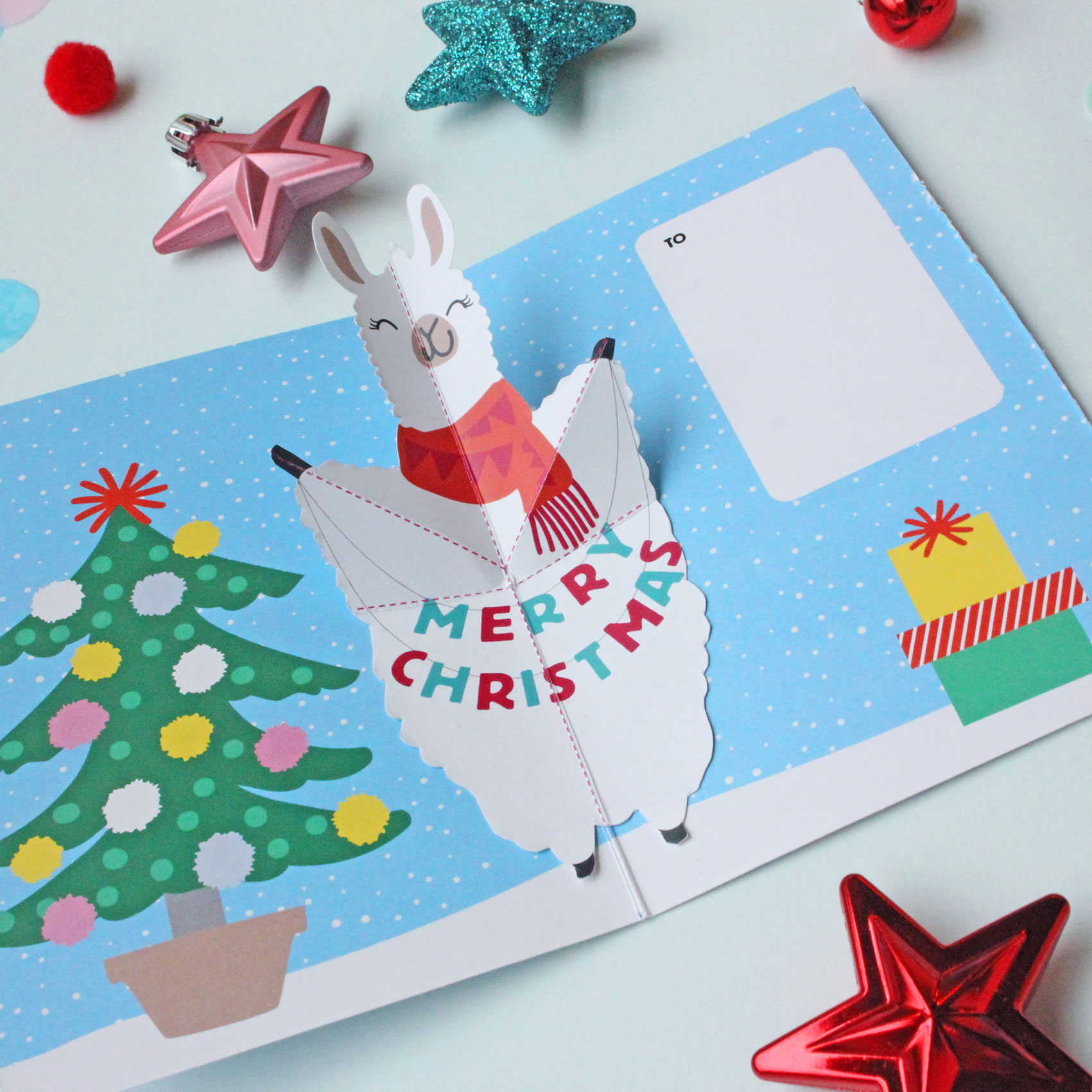 Llama Christmas Tree.Raise The A Llama This Christmas Paperchase Journal