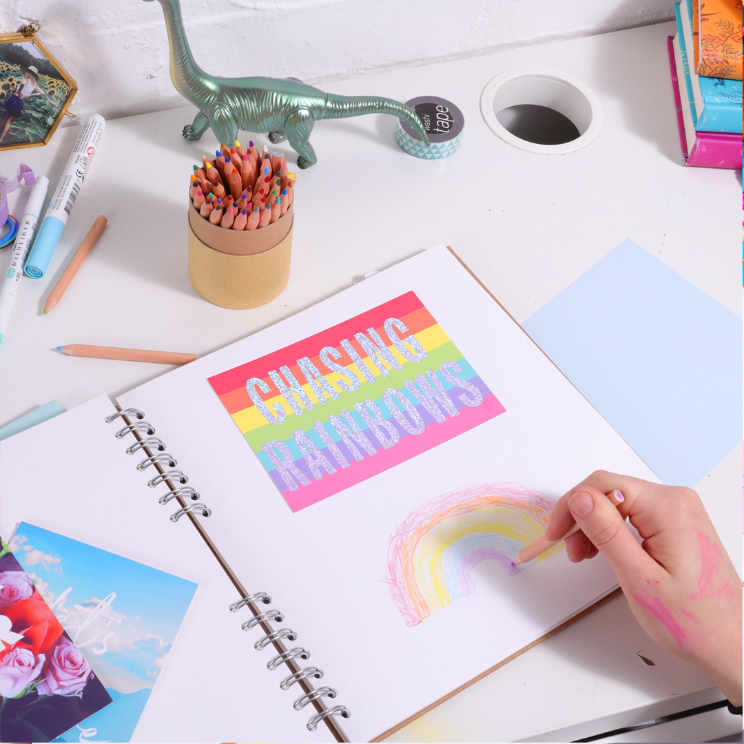 Postive postcards for scrapbooking with children