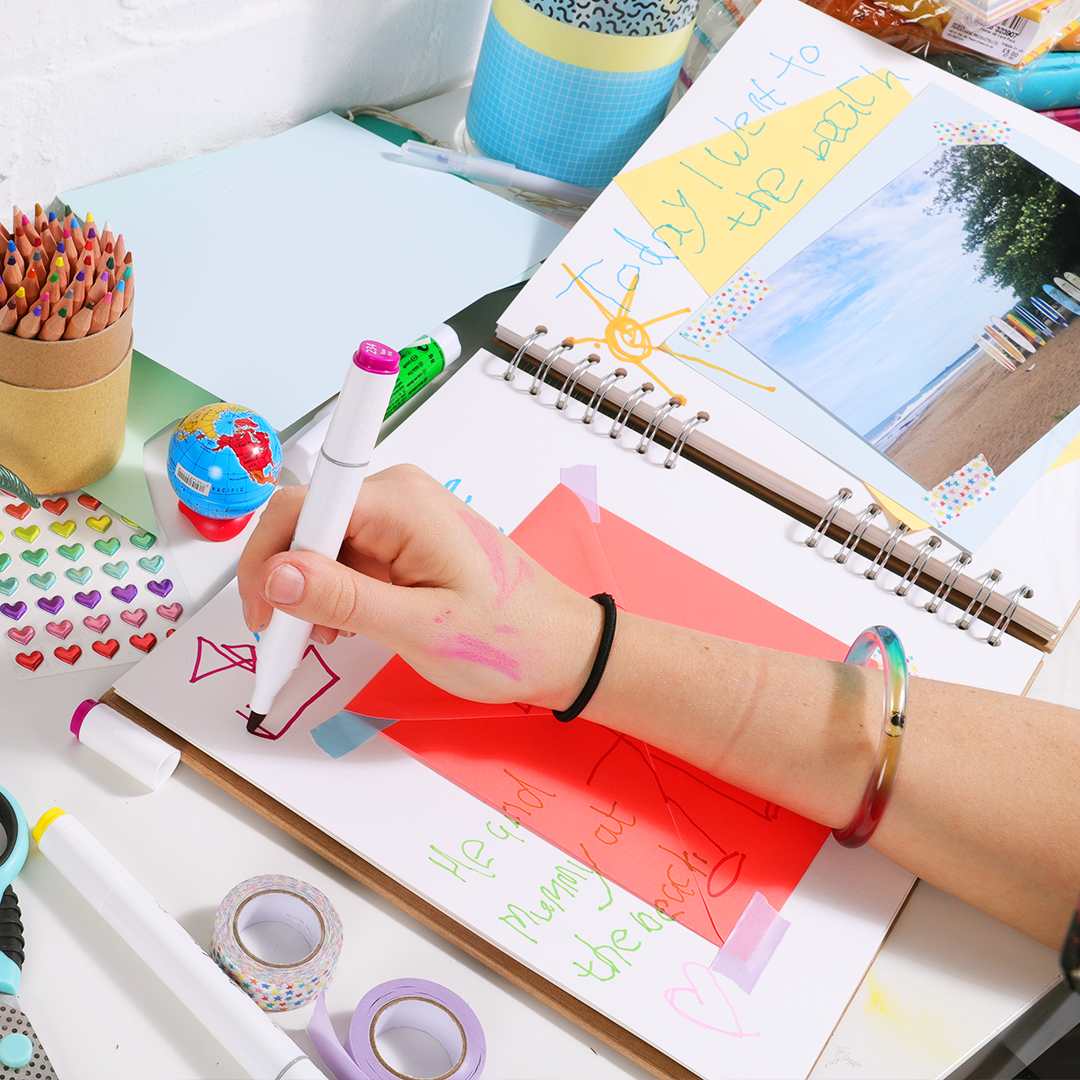 How to scrapbook with kids