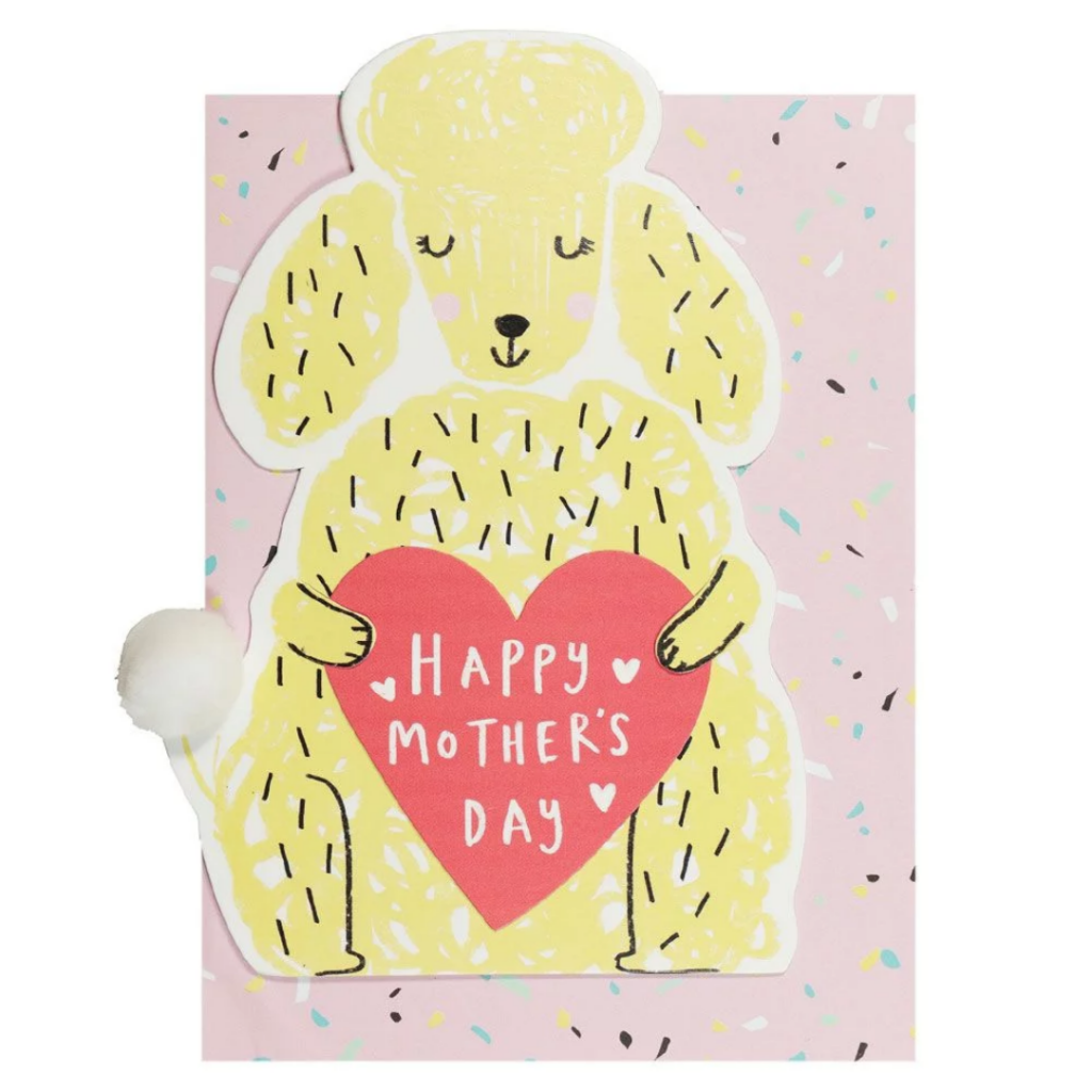 Poodle Mothers Day card from your dog