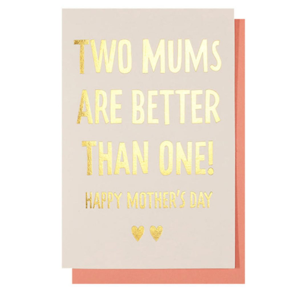 Mother's Day cards for both your mums