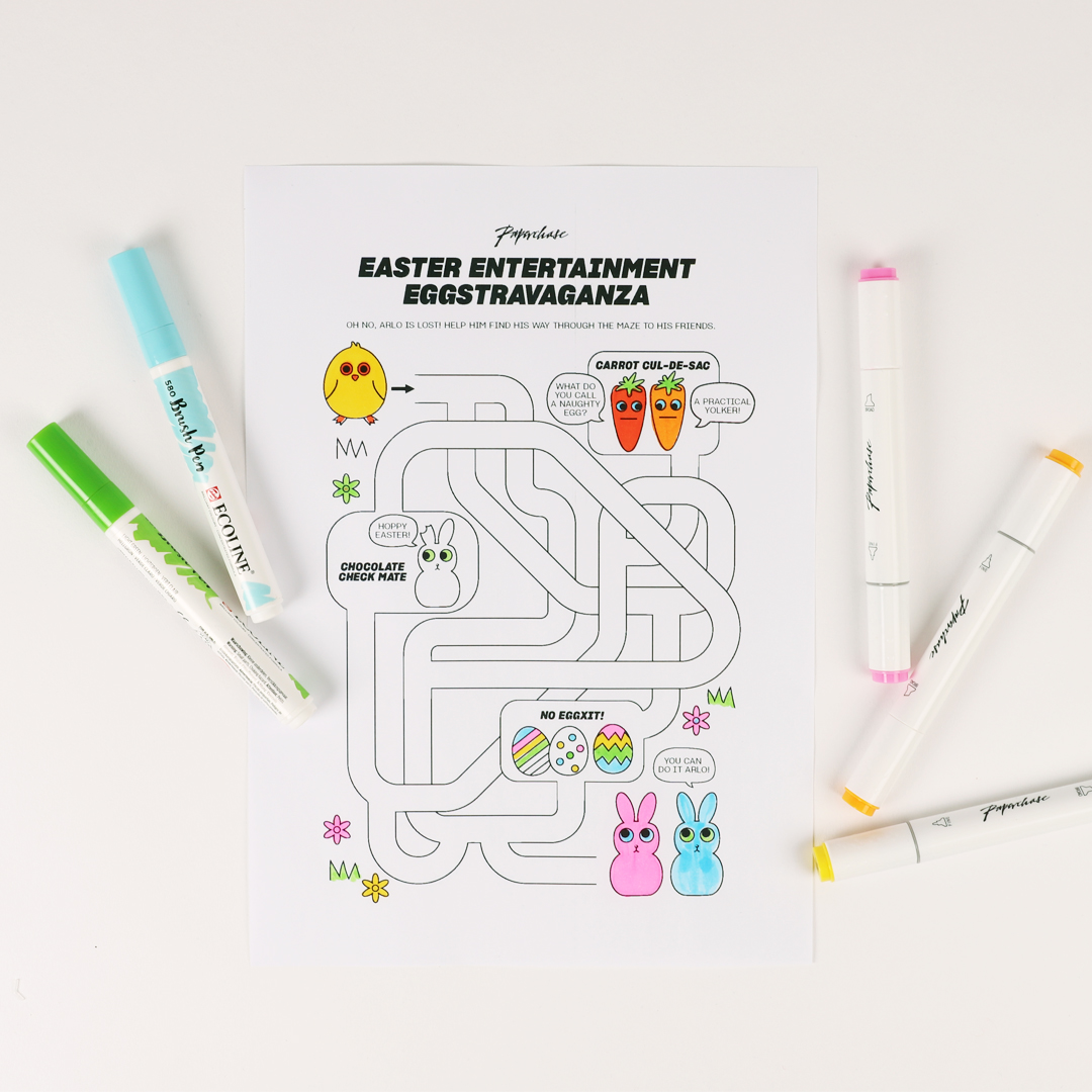 image about Downloadable Stationery titled Down load a color within Easter Egg Hunt Paperchase Magazine